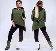 Женский костюм спортивный оливковый с 48 по 54 размер, фото 1