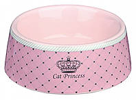 Миска Trixie Cat Princess Ceramic Bowl для кошек, керамика, 0.18 л