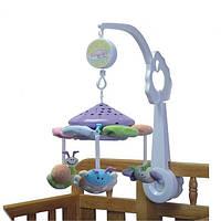 Детская заводная карусель-проектор на кроватку 2891