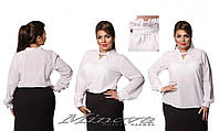 Стильная женская блуза большого размера с рюшами  52,54,56