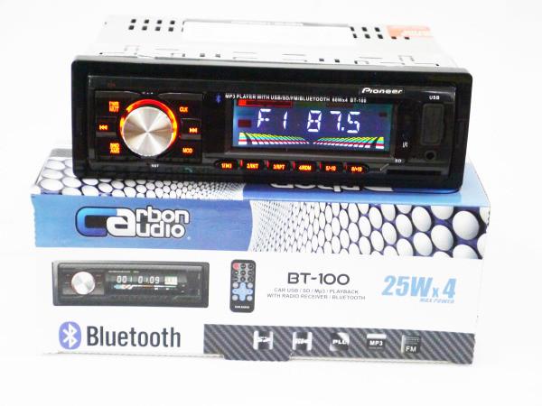Автомагнитола магнитола Pioneer BT-100 Bluetooth+MP3+FM+USB+SD+AUX