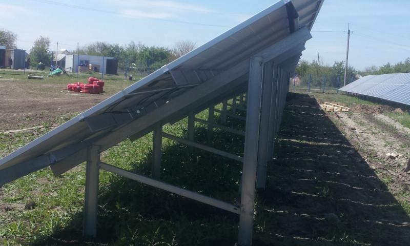 Система креплений для солнечных электростанций наземная (двух-опорная)