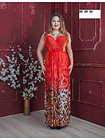 Платье-сарафан шифон,красный,зеленый,46,48,50