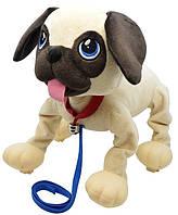 Интерактивный щенок Peppy Pets Веселая прогулка - Мопс 28 см (245291)