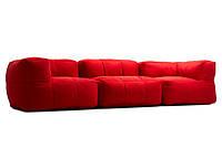 """Модульный диван """"Trino"""" красный, бескаркасный диван,диван мешок,диван бескаркасный,диван,мягкая мебель."""