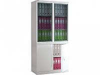 Шкаф архивный (канцелярский) NOBILIS NM-1991/2G (ВхШхГ-1900х915х458)