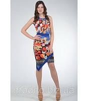 Платье Цветы SO-10490 (синий), фото 1