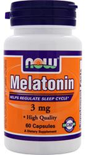 Мелатонін від безсоння Now Foods Melatonin (3mg) 60vcaps
