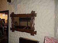 Рама под зеркало из натурального дерева под старину