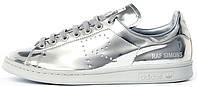 Женские кроссовки кеды Raf Simons x Adidas Originals Stan Smith Metallic (Адидас Стэн Смит Раф Симонс) серебро