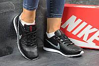 Женские кроссовки Nike Zigmaze черные кожаные (Реплика ААА+), фото 1