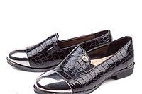 Школьные лакированные черные туфли для девочек 33,37р.