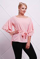 Блуза Louise персик  42-52
