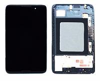 Дисплей (экран) для Lenovo A3500 IdeaTab + с сенсором (тачскрином) и рамкой синий