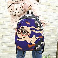 Модный женский городской рюкзак с зайкой