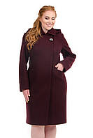 Пальто больших размеров со съемным капюшоном