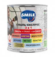 Емаль Експрес Smile молотковий ефект рубінова 0,7кг