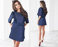 Женское джинсовое платье 3 цвета