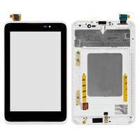 Дисплей (экран) для Lenovo A3500 IdeaTab + с сенсором (тачскрином) и рамкой белый Оригинал