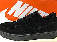 Кроссовки Nike Air Force черный замш