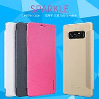 Кожаный чехол Nillkin Sparkle для Samsung Galaxy Note 8 (4 цвета)