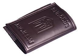 Кожаная обложка на паспорт перламутровая цвет серый