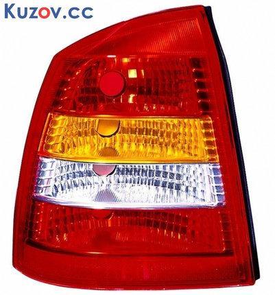 Фонарь задний Opel Astra G седан 98-09 правый (DEPO) красно-белый 442-