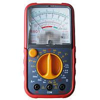 Тестер аналоговый 8801, стрелочный, измерения, прозвон цепи, тест батарей, питание 2хаа