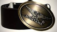 Ремень мужской Montana кожаный коричневый