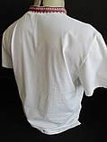 Мужские вышиванки белого цвета с коротким рукавом, фото 5