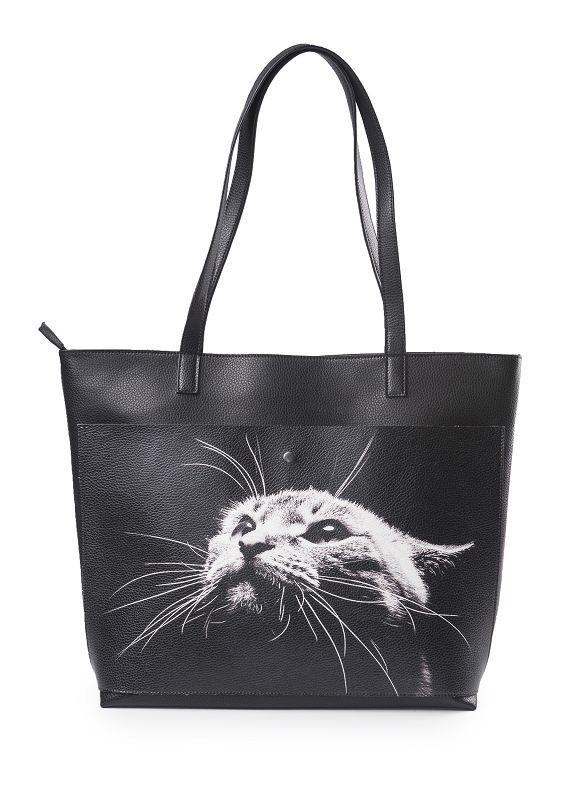 Кожаная женская сумка-шоппер