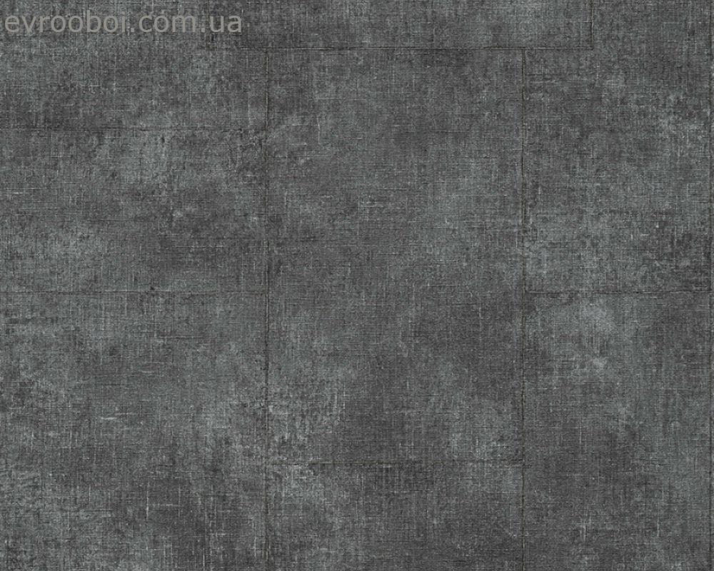 Обои под потертую кожу черного оттенка графит 336081