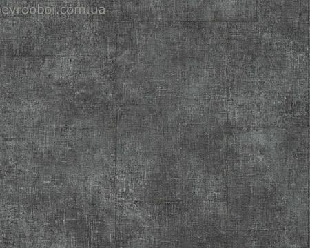 Обои флизелиновые, черного оттенка графит 336081.