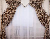 Шикарные  шторы с ламбрекеном не дорого