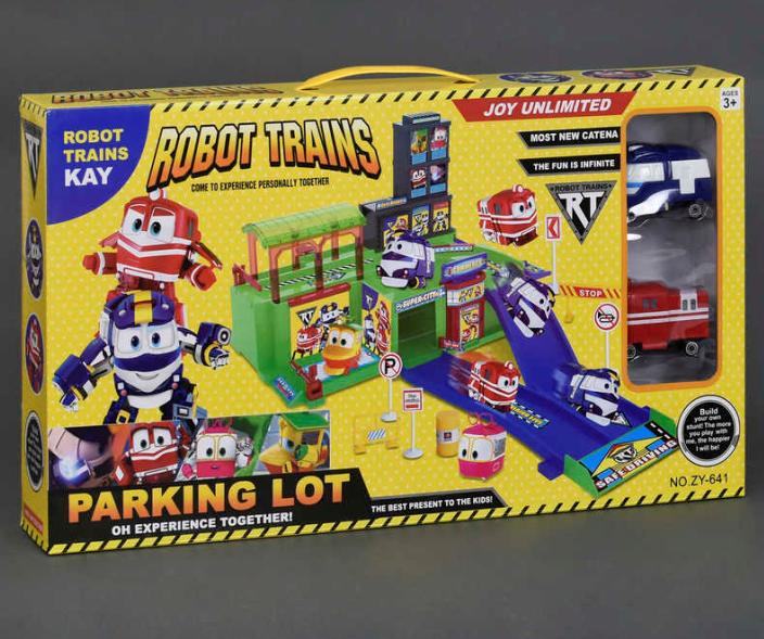 Игровой набор гараж Robot trains. Парковка. Игровой набор.