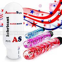 Смазка с антисептиком Лубрикант + Вибратор Вагинально - Анальный 2в1  American Style на водной основе 115 ml