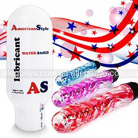 Мастило з антисептиком Лубрикант + Вібратор Вагінально - Анальний 2в1 American Style на водній основі 115 ml