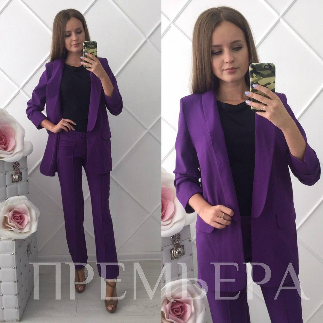Женский костюм 2-ка: пиджак и брюки в расцветках. ПР-5-0817