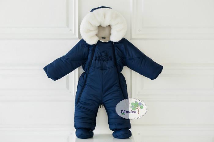 2809ff4f126d Детский комбинезон трансформер зимний (темно-синий), зимний комбинезон на  овчине для мальчика