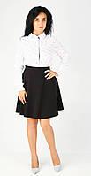 Клешенная юбка полу солнце чёрного цвета