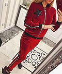 """Женский красивый бархатный спортивный костюм """"Звезда"""" (5 цветов), фото 10"""