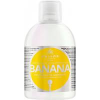 Укрепляющий шампунь для волос Kallos Banana с мультивитаминным комплексом 1л (Венгрия)