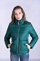 Стильная женская куртка размер плюс Лаура изумруд (42-52)