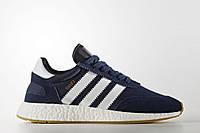 Кроссовки Adidas Iniki  , цвет темно-синий на белой подошве