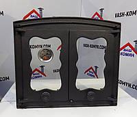 Дверка для хлебной печи со стеклом и термометром (44х38 см/38,5х30,5 см)