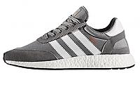 Кроссовки Adidas Iinki  , цвет серый на белой подошве
