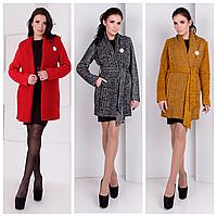 Стильное пальто женское с поясом