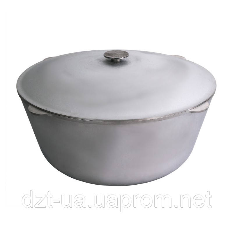 Казан литой (60 л) алюминиевый с крышкой