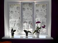 Тканевые ролеты Цветы