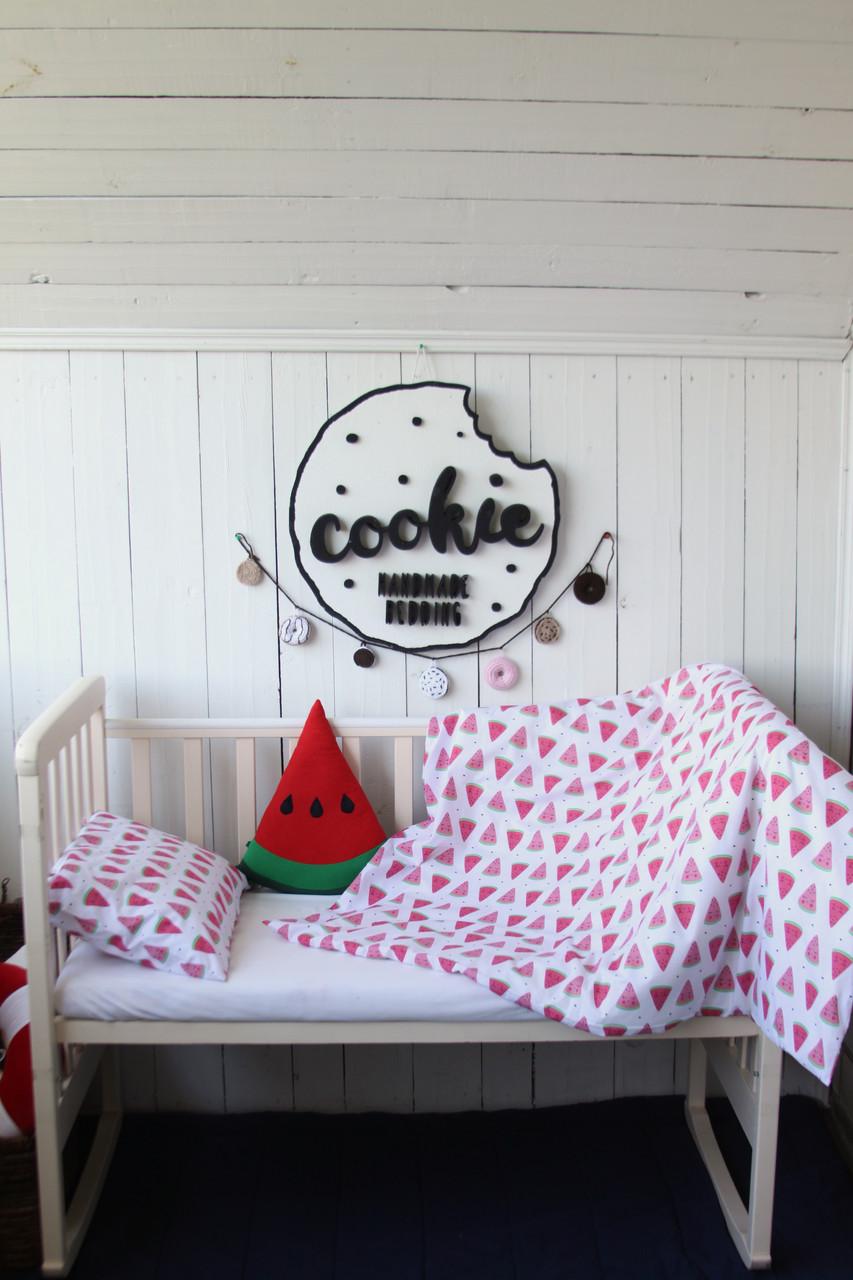 """Постіль у дитяче ліжечко """"Кавунчики"""""""